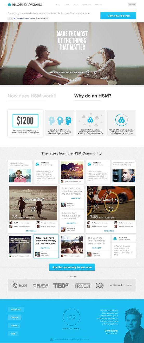 Cool Blue Website Layout Concept Web Design News Web Design Web App Design