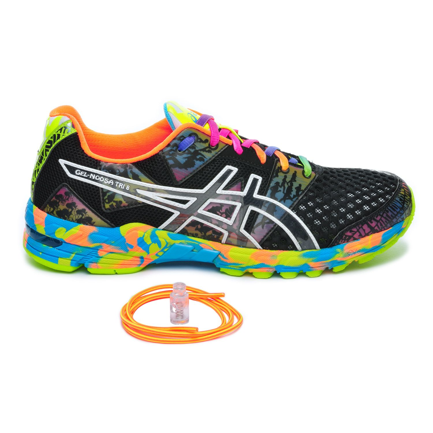 Chaussures Running Asics Gel Noosa Tri 8 Homme Noir/Multicolor
