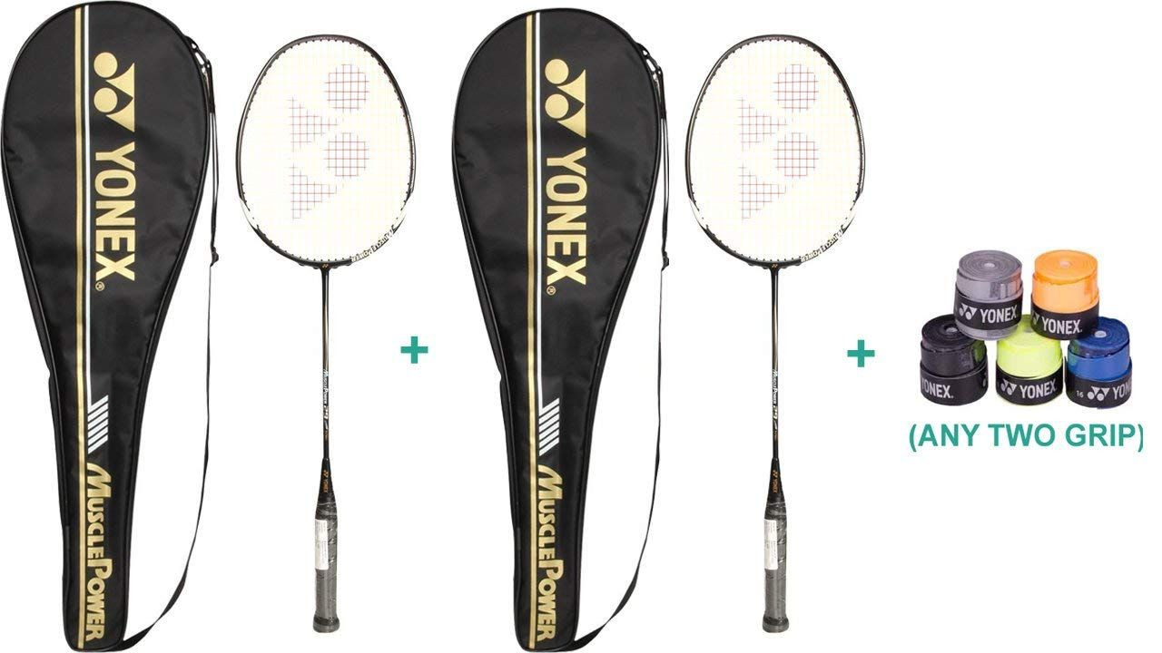 Buy Yonex Muscle Power 29 Racket Set With Two Overgrip ...