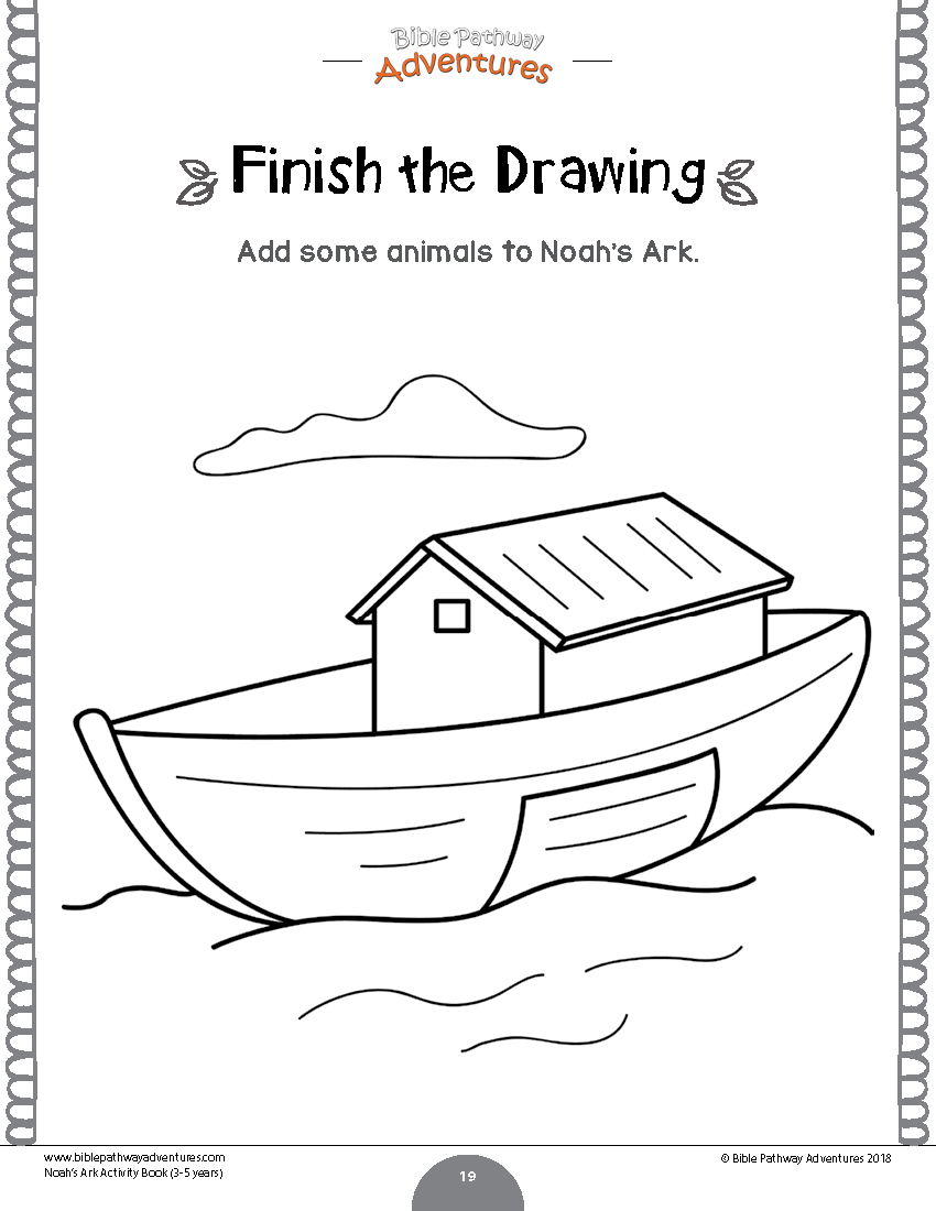 Noah's Ark activity book & lesson plans for Kids Ages 3-5
