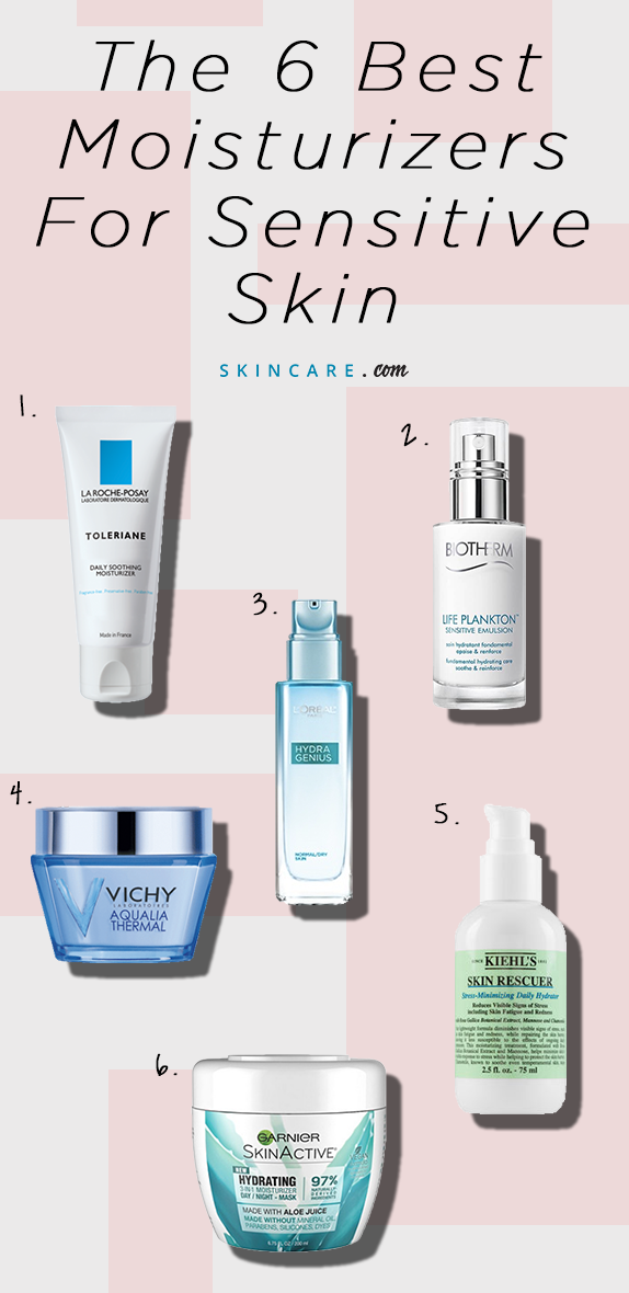 The 6 Best Moisturizers for Sensitive Skin #skincare