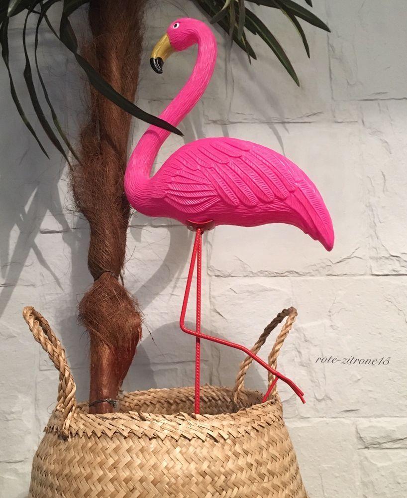 flamingo gartenfigur mit erdspie 62 5 cm garten terrasse balkon dekoration neu ebay rote. Black Bedroom Furniture Sets. Home Design Ideas