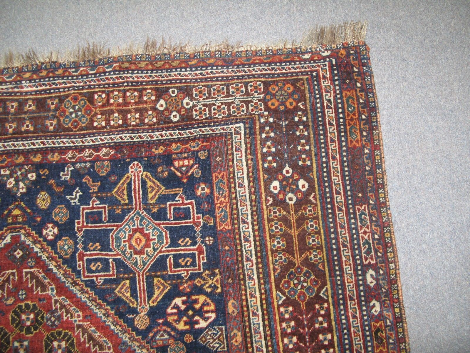 Persian Ghashghai Shiraz Afshar Rug In Very Good Condition Semi Antique Ebay