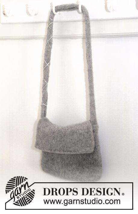 Felted DROPS bag in Alaska Free pattern by DROPS Design. | knitting ...