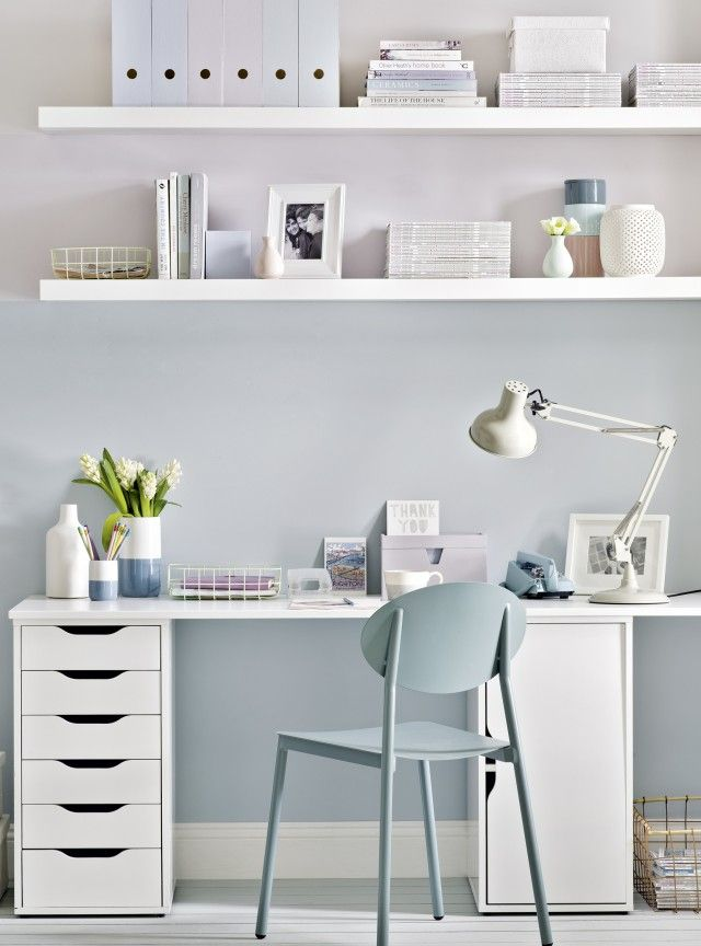 Modern Home Office with Pastel Walls Deco Pinterest Pastel