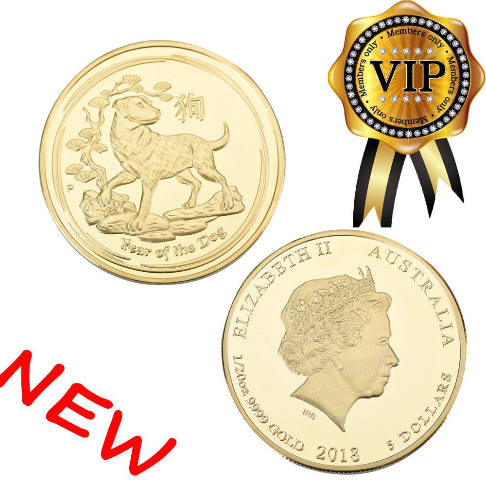 Australian Lunar Year Of The Dog Silver Coin Round Queen Elizabeth Ii 2018 New