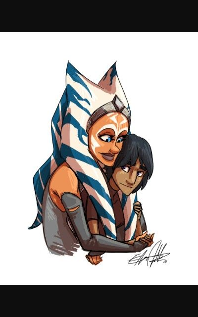 Ahsoka and ezra bridger this is the sweetest thing ever