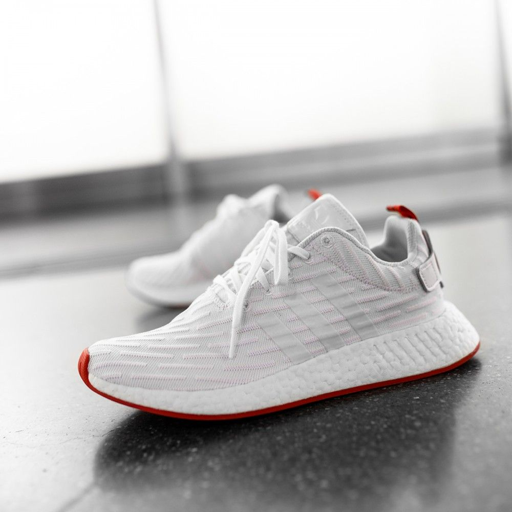Adidas NMD_R2 Primeknit Running White / Core Red Credit : The Good Will Out  #Adidas