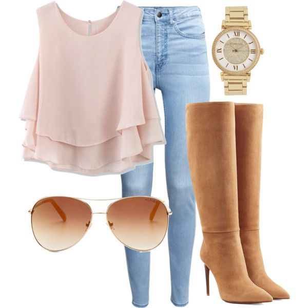 A fashion look from June 2015 featuring Chicwish tops, H&M jeans and Ralph Lauren Collection boots. Browse and shop related looks.