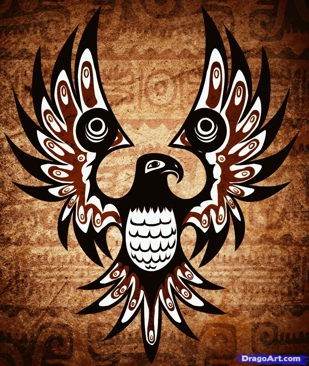 How To Draw A Native American Tattoo Native American Tattoo Step