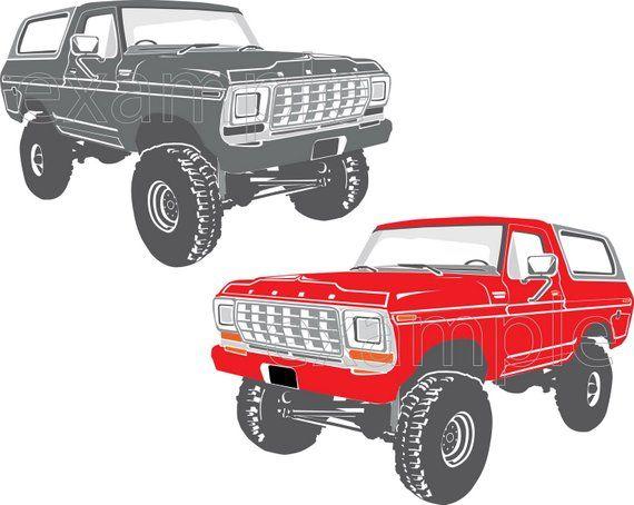 Ford bronco vector file – Artofit