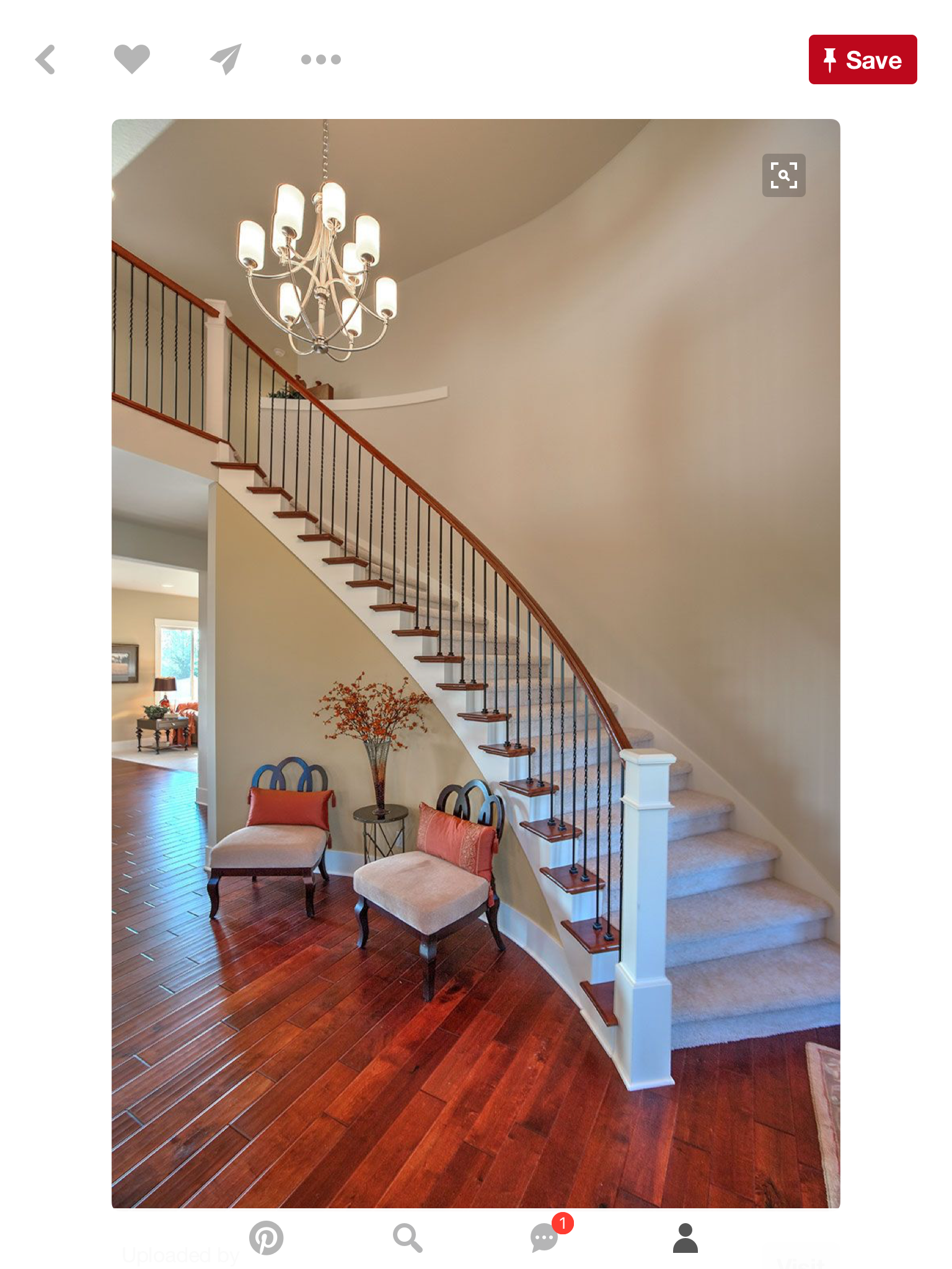 Best Pin By Kristina Stout On Foyer Stair Railing Design 400 x 300