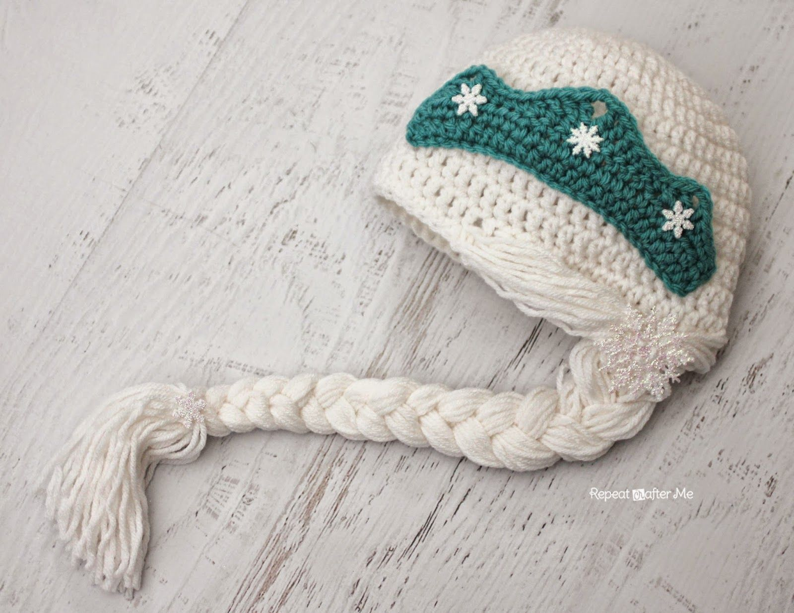 Crochet Snow Queen Hat Pattern #queenshats You guys requested it and now I am delivering my version of an Elsa crochet hat! AKA Snow Queen so I don't get sued by Disney #queenshats