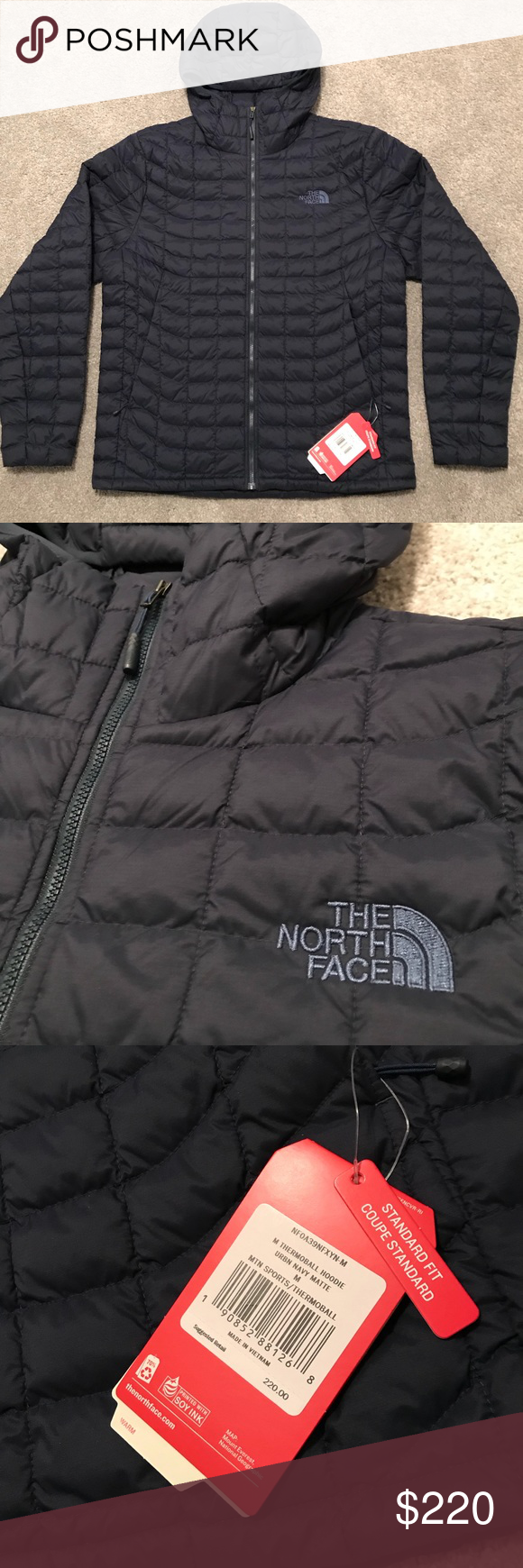 The North Face Thermoball Hoodie M S Medium Hoodies Clothes Design The North Face [ 1740 x 580 Pixel ]