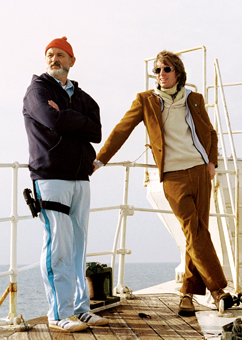 c1ad6682b6638d Bill Murray and Wes Anderson on-set of The Life Aquatic with Steve Zissou