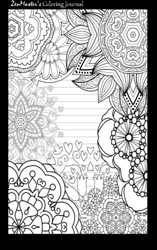 Coloring Journal Black Therapeutic Journal For Writing Journaling And Note Taking With Coloring Designs Coloring Journal Art Journal Cover Coloring Books