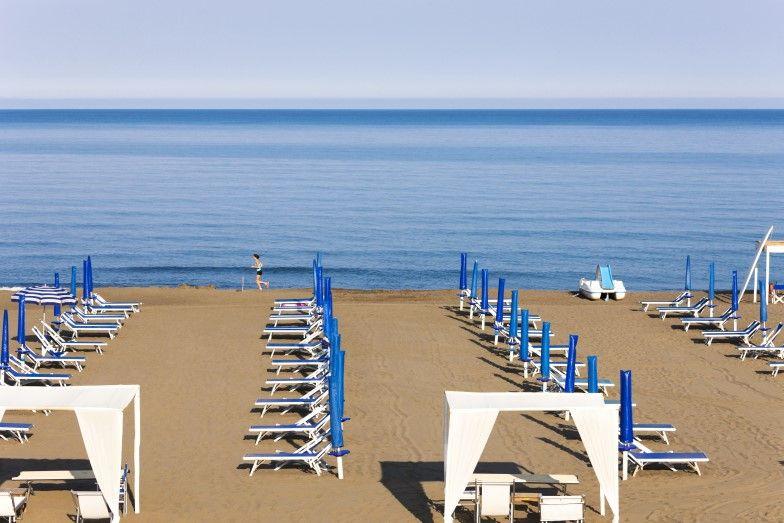 Camping Etruria aan de Toscaanse kust.
