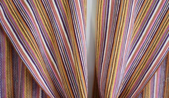 Photo of Nardi & Tagliaferri Italy Mehrfarbiger gestreifter Strickschal mit Fransen, Hygge Muttertagsgeschenk für Sie, Leichter 3-Jahreszeiten-Acrylschal für Damen