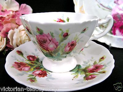 HAMMERSLEY TEA CUP AND SAUCER GRANDMOTHERS ROSE PATTERN TEACUP