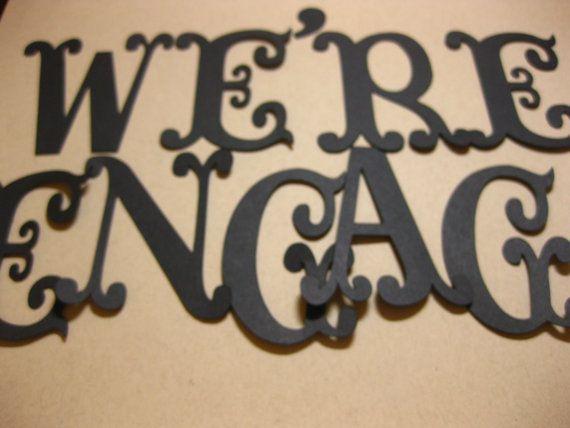 Vintage We're Engaged Die Cut Banner Letters by RetroRoxVintage, $4.00