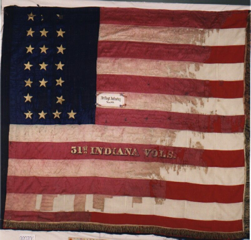 31st Indiana National Flag 99 This Early National Flag No 99 Shown Above Appears To Be In Reasonably Good Shape Civil War Flags Civil War History Flag