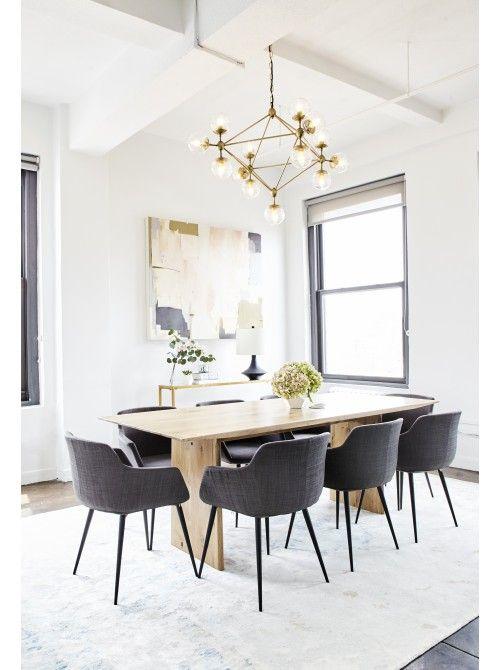 Mari Dining Table Oak By Lulu Georgia Geometric In Design And