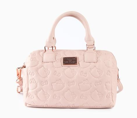 Hello Kitty Embossed Crossbody Bag  Dusty Pink  loungefly  purse ... d22f564572fb1