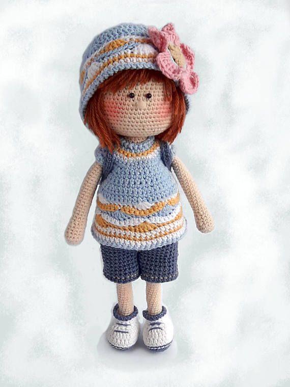 Buyable Amigurumi crochet doll PDF pattern Sophie the Travel Blogger ...