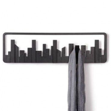 PERCHERO DE PARED UMBRA skyline 5 PERCHAS RETRAIBLES | Percheros de ...