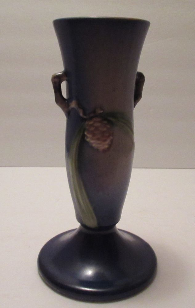 Roseville Pinecone Vase Sharp Mold Design Circa 1930s Branch