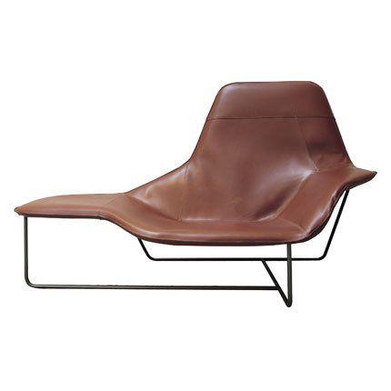 Lama Zanotta - Fauteuil cuir marron design