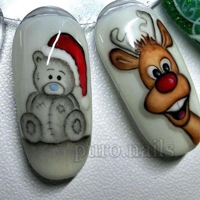Handmade, Rudolph and his best friend Christmas Teddy :) all thanks to @quloocompl , white background PROnail 555, blue nose PROnail 402 @procosmetics.pl  #relax #evening #hybrydnails #hybryda #hybrydypronail #nailart #nailsoftheday #nails #nailartist #paznokcie #paznokciehybrydowe #piękne #christmasnails #christmas #woman #polishgirl #finishgirl #hobby #instanails #dlugiepaznokcie #instanails #nailsinspiration  #finnishgirl #kynsi #järvenpää #hobby #prettynails #ihanakynsilakka #kynnet…
