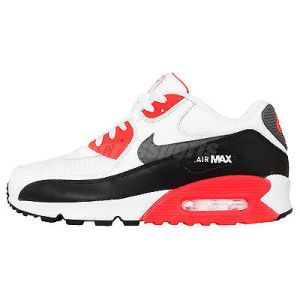 best authentic 1e9a0 9ceb3 Nike Air Max 90 Essential White Infrared Black Mens Running Shoes OG 537384- 126