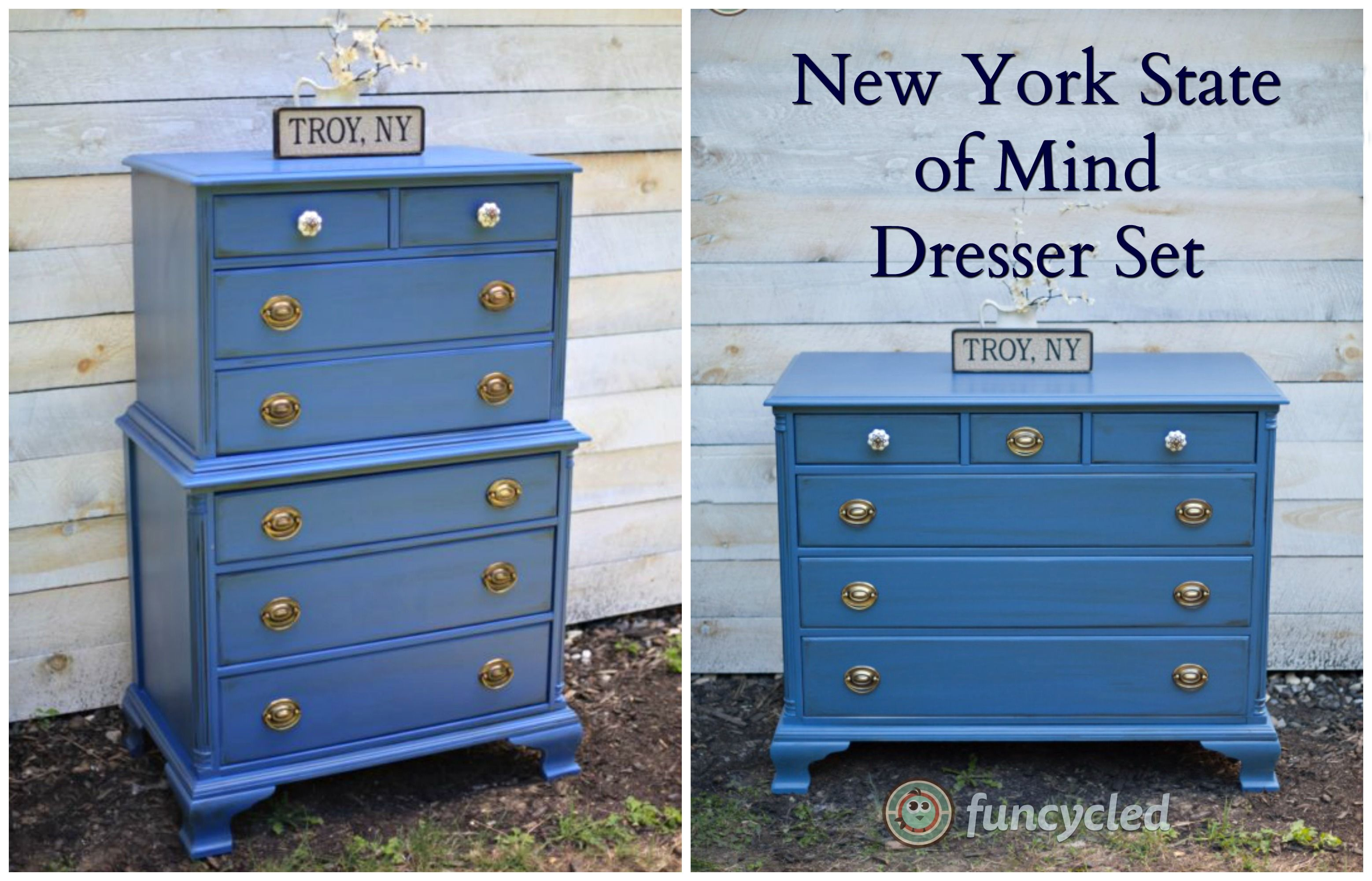 Using Benjaminmoore S New York State Of Mind Paint Color Howtopaintfurniture Funcycled