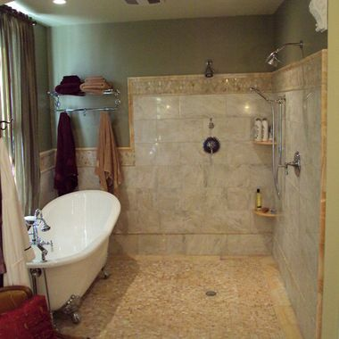 72 Inch Tub Shower Combo Design Ideas, Pictures, Remodel, And Deco Whole  Rest Of Room Becomes Shower