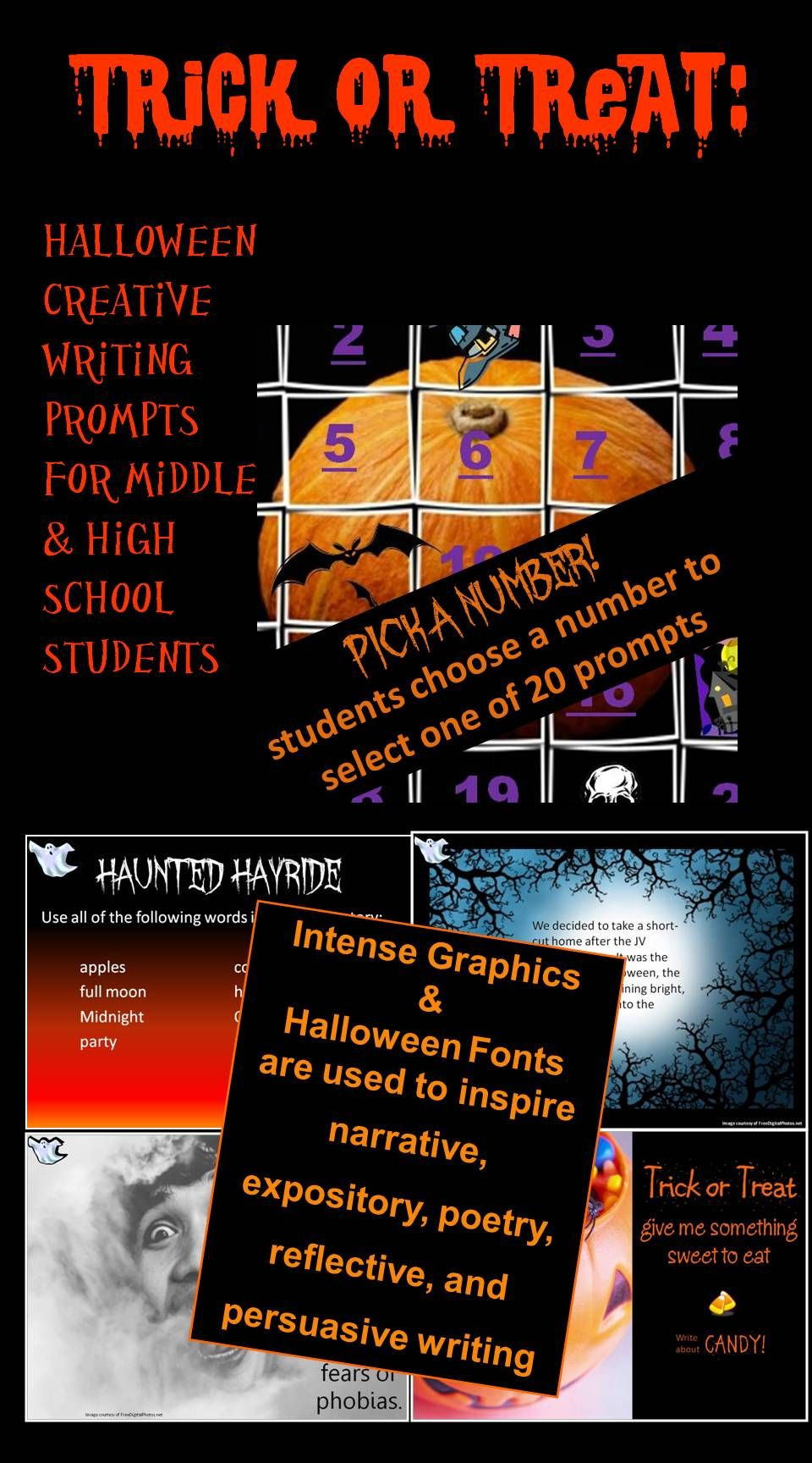 Trick Or Treat Creative Writing Prompt For Halloween Essay