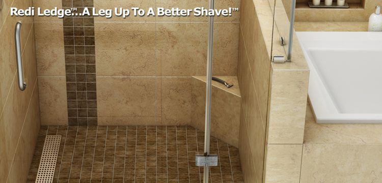 Redi Ledge Shaving Steps Shelves With Images Bathroom Tile
