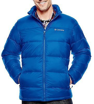 095d4cf9aea4 Columbia NEW Blue Mens Large L Thermal Coil Excursion Puffer Jacket $150  #207