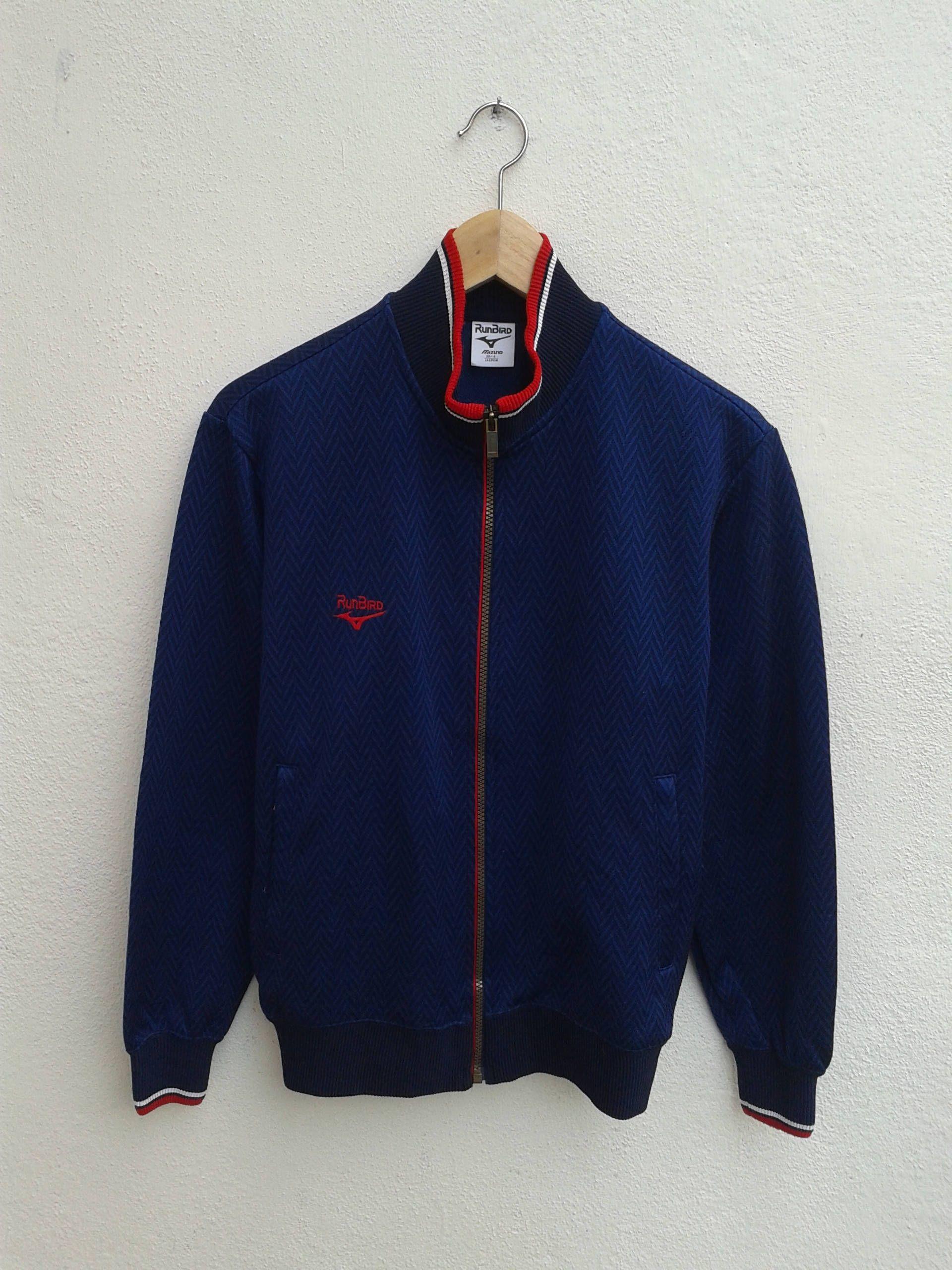 3c9692e0d Vintage 90s RUNBIRD By Mizuno Zipper Jogging Sportswear Classic Pattern  Ring Collar Run Jacket Size M by BubaGumpBudu on Etsy