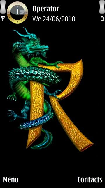 Letter R Gold 3d Mobile Phone Screensaver Wallpaper Pictures