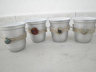 Re-purposed yogurt containers