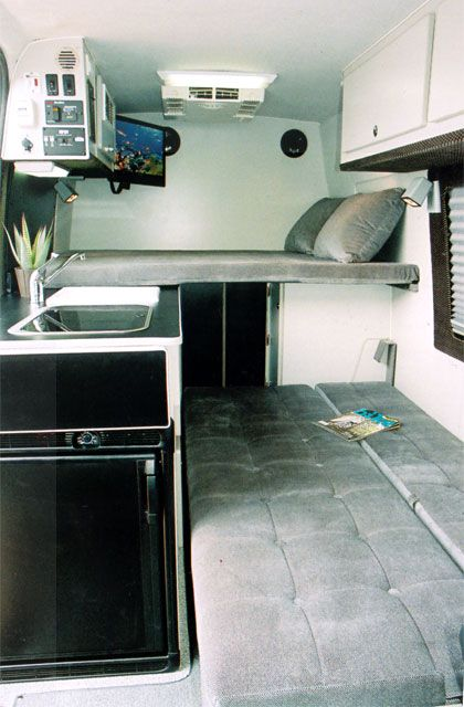 Camper van layout ideas including cargo *I don't love the ...
