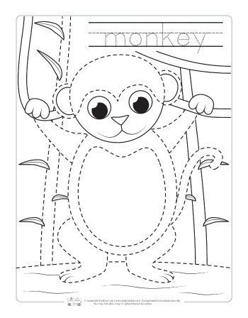 safari and jungle animals tracing worksheets free printables for kids zoo activities. Black Bedroom Furniture Sets. Home Design Ideas