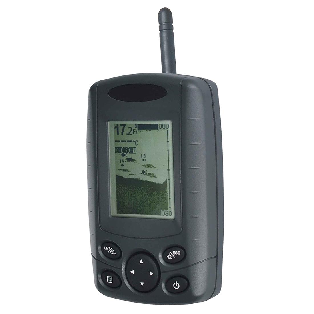 69.62$  Buy now - http://alitxj.worldwells.pw/go.php?t=32751909571 - ELOS-FF-002 Wireless Portable Handheld Fish Finder FishFinder With Round Sonar Sensor (Transducer) White LED Backlight 69.62$
