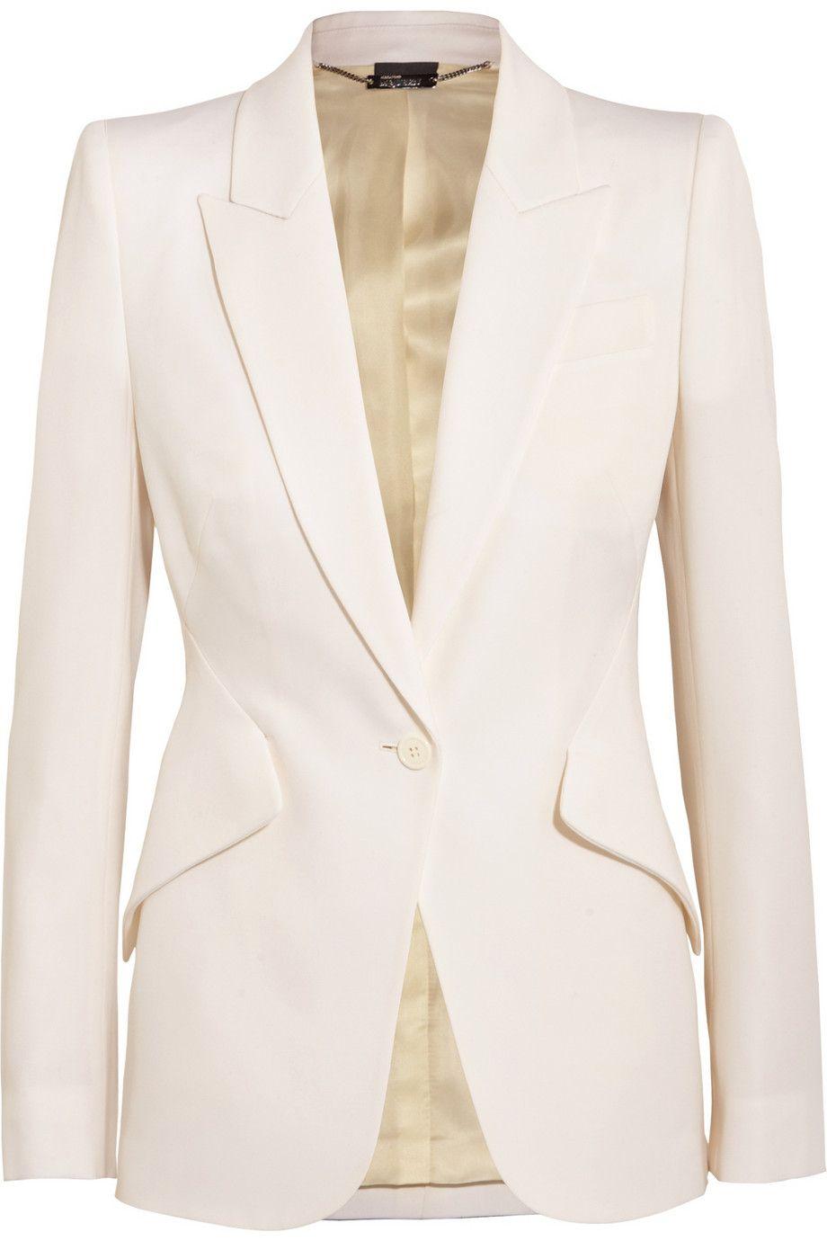 ALEXANDER MCQUEEN Wool-piqué blazer Mode Femme, Tailleur Femme, Vestes,  Chemises, 21359293e36