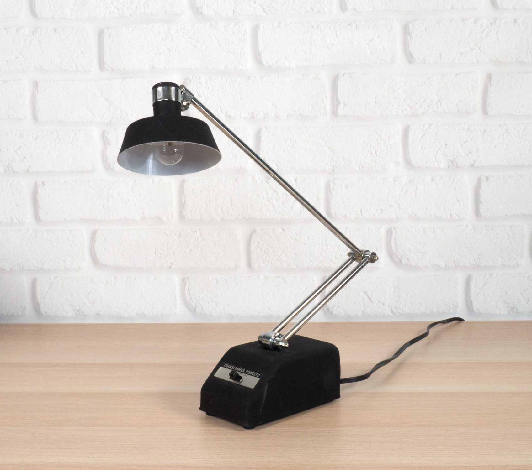 Vintage Mobilite Desk Lamp Black Adjustable Task Light Mid Century Modern Lighting Black Lamps Mid Century Modern Lighting Desk Lamp
