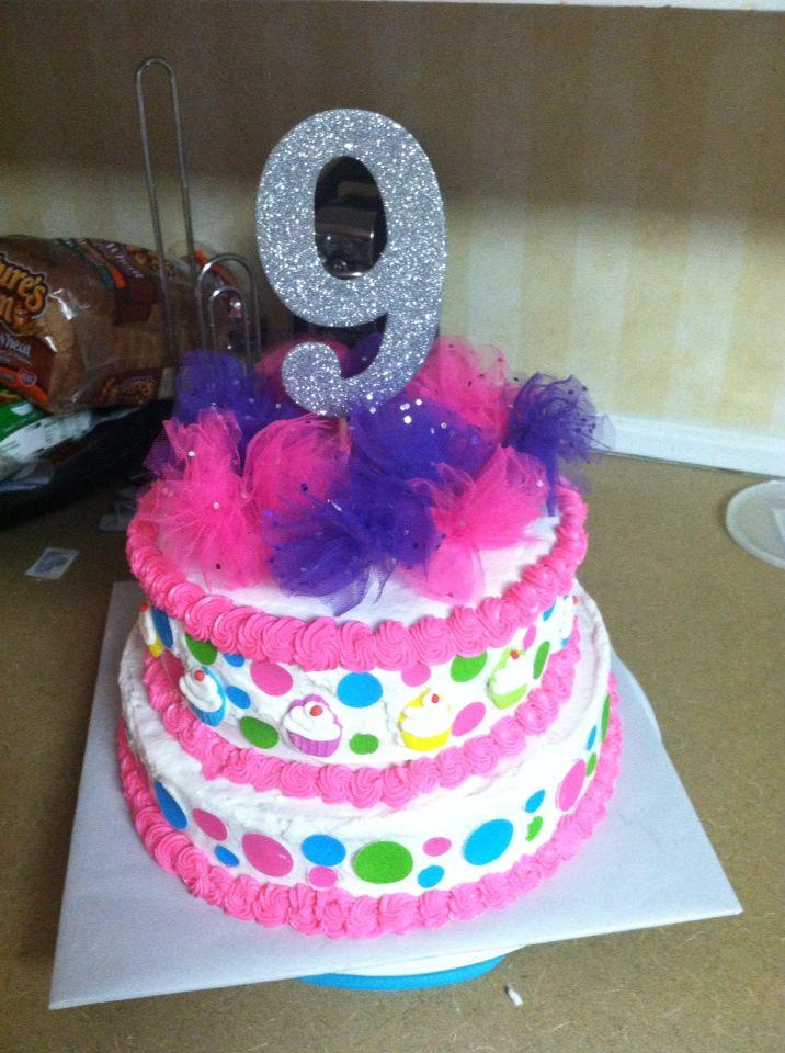 Callie 9th birthday cake