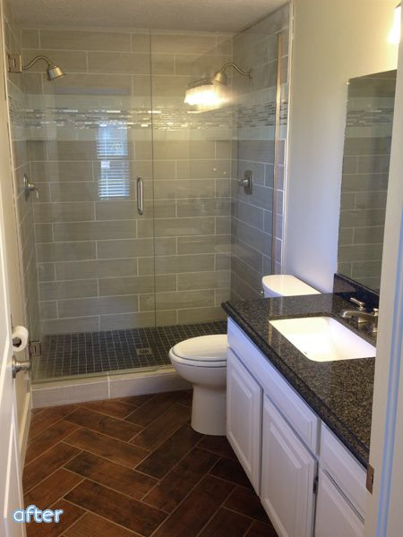 long narrow bathroom ensuite potential with double shower heads - Bathroom Ideas Long Narrow Space