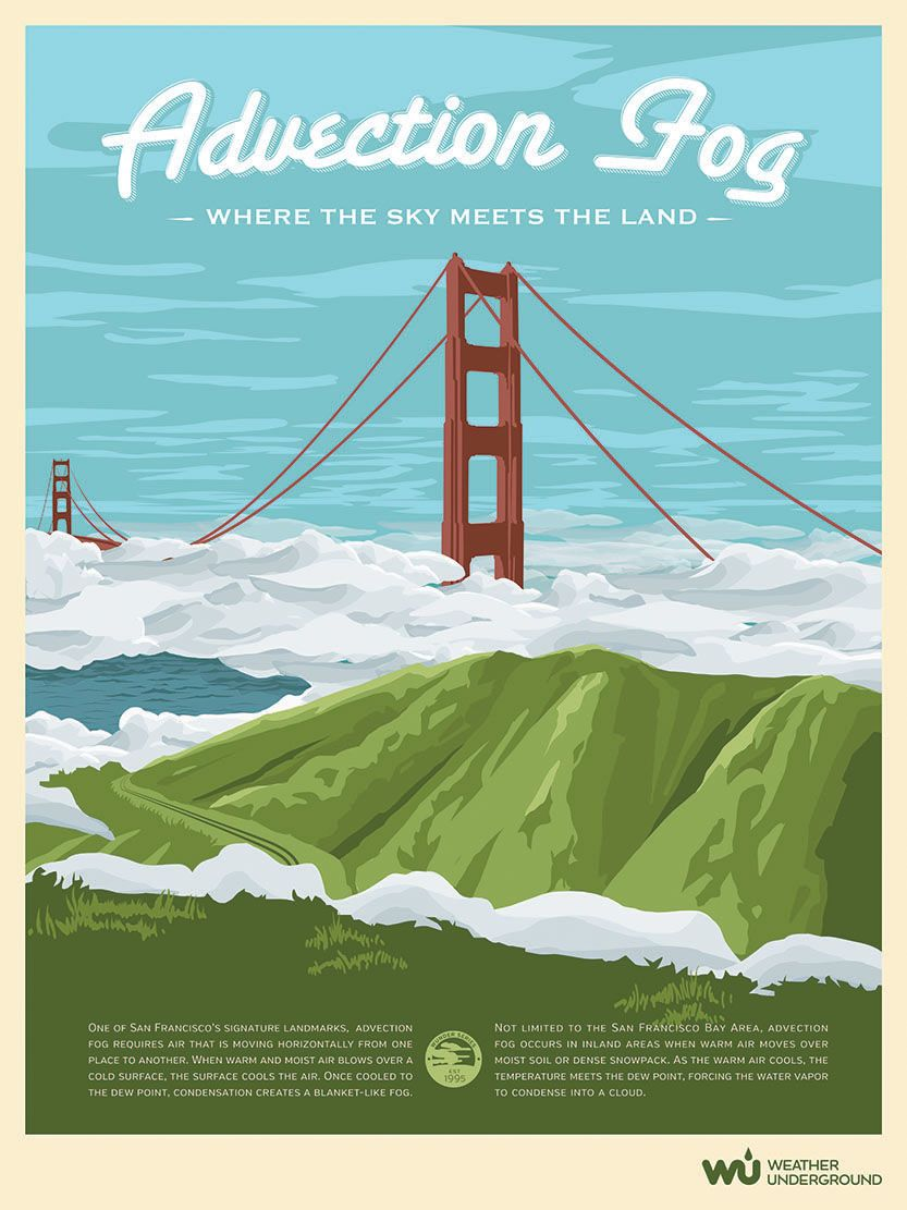 San Francisco Fog Map Live%0A One of San Francisco u    s signature landmarks is the dramatic lowrolling  advection fog  This type of fog requires air that is advecting horizontally   or