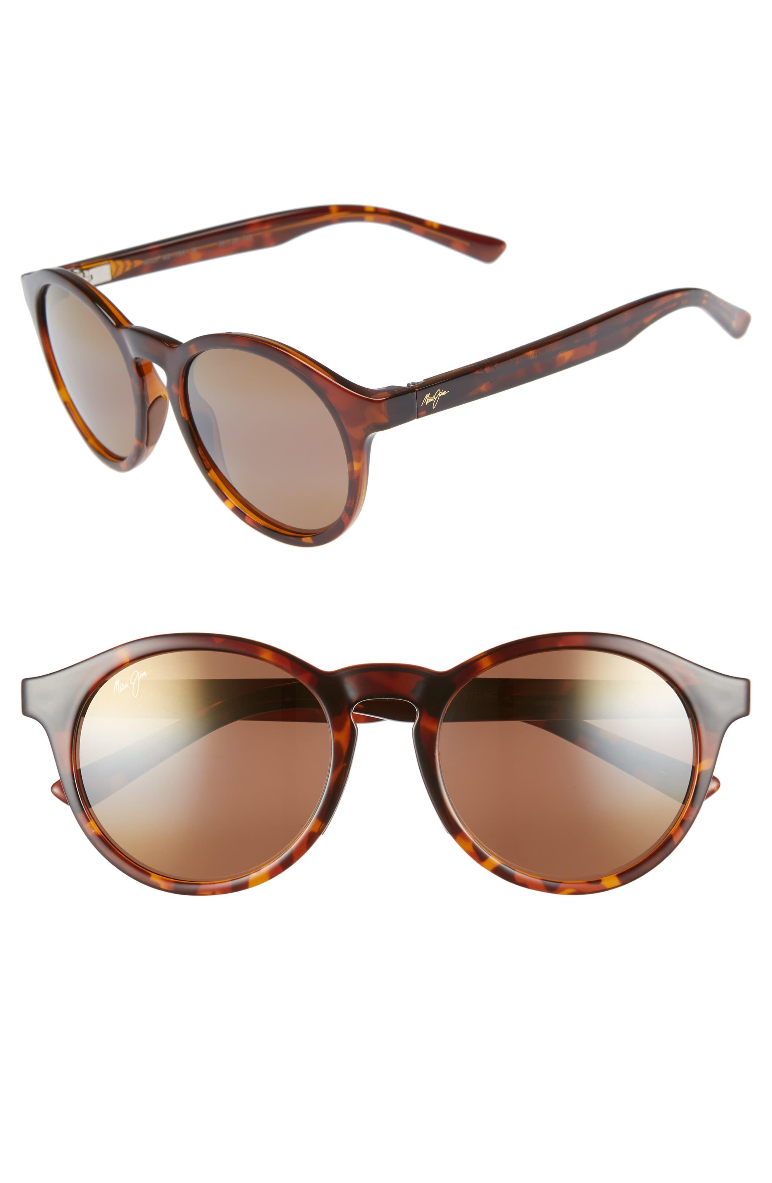 0326fbc6d0 Women's Maui Jim Pineapple 50Mm Polarized Round Sunglasses - Tortoise